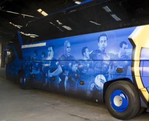 Mannschaftsbus des FC Barcelona
