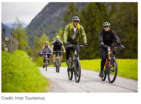 Gruppenreise mit dem Rad nach Tirol
