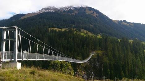 Gruppenreise ins Lechtal Holzgau Hängebrücke