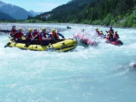 Rafting auf dem Lech im Lechtal