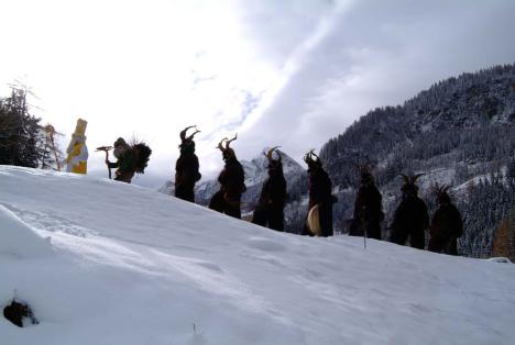 Krampuslauf im Salzburger Land