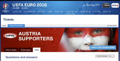 TICKETS UEFA EURO 2016